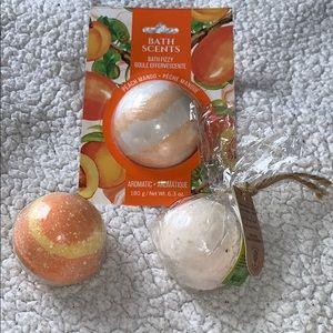 Orange scented bath bombs
